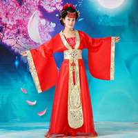 DJGRSTER Chinese Ancient Costume Dress Chinese Traditional Costume Ancient Tang Dynasty Hanfu Women's Hanfu Dresses 3 Colors