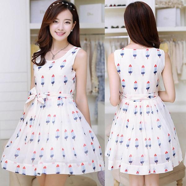 14e679442 Hot sale European Style Ice Cream Patterned Chiffon Maternity Dresses plus  size Slim casual Sleeveless Summer Dress Pregnancy