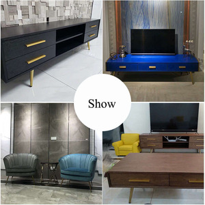 Image 5 - 4pcs 10cm/15cm/20cm/25cm/30cm Stainless Steel Cabinet Leg TV Holder Legs Tea Table feet Cupboard Supports Sofa Legs