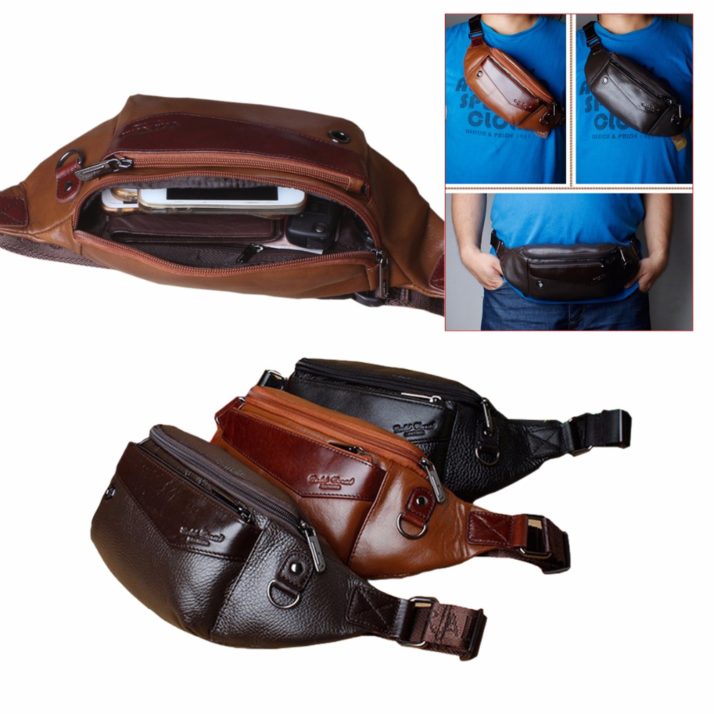Genuine Leather Money Men Women Salesperson Waists Bags Phone Waist Pack Belt Pouch For Samsung Galaxy S9 S10 Lite Plus Note 8 9