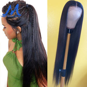 Image 3 - Missblue 30 32 34 36 38 40 inch Lace Front Human Hair Wigs For Black Women Brazilian Remy 360 Lace Frontal Wig With Baby Hair
