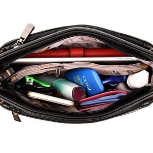 Image 4 - Moda kadın omuzdan askili çanta tasarımcısı PU deri kadın postacı çantası marka Tote Flap kadın çanta kadınlar için Crossbody çanta Sac