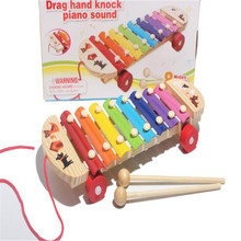 Best seller Baby Kid Musical Toys Fashion Wisdom Development Wooden Instrument improve Kid sensitive to colors