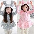 Дети толстовки девушка Кролик форма симпатичные Толстовки Весна спортивный костюм толстовка хлопок дети женский пот enfant 99