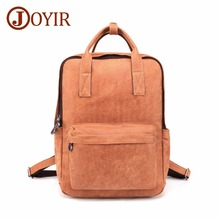 JOYIR Fashion Men Backpack Genuine Leather Travel Bag Man Big Capacity Male Mochila 14Laptop Functional Bags