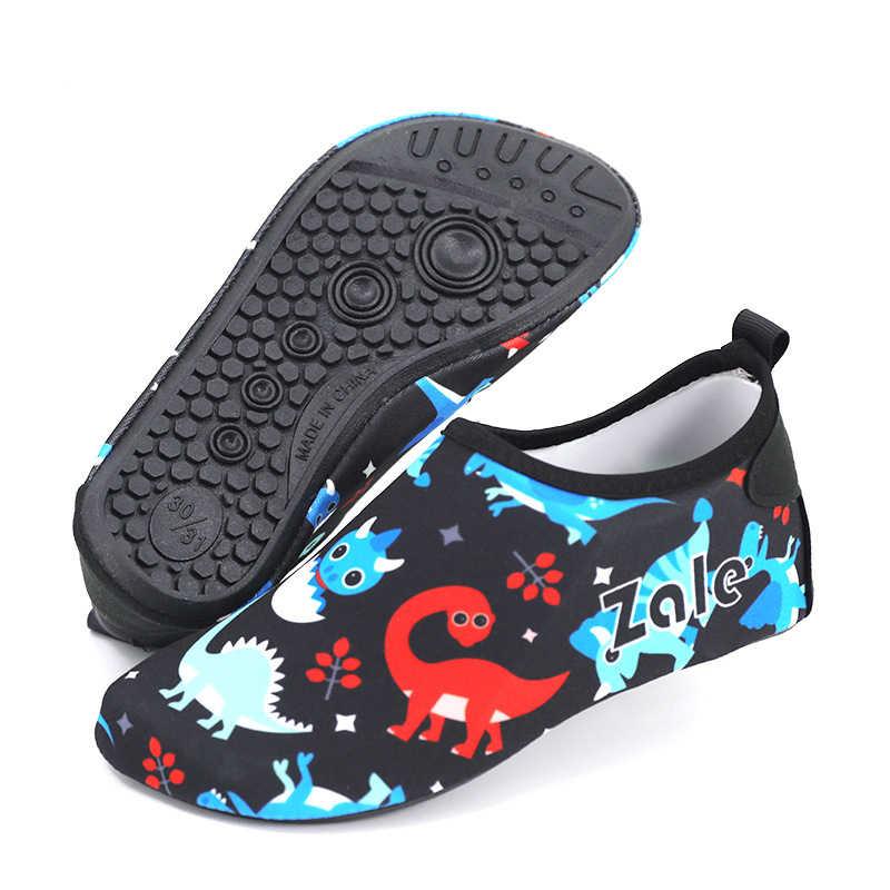 e80282398ef4 ... Dinosaur Beach Kids Boy Aqua Barefoot Shoes Children Water Sports Socks  Men Fishing Swimming Outdoor Sneaker ...