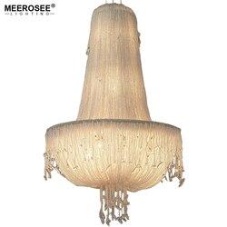 Francuski styl nowoczesny żyrandol kryształ Hanglamp nabłyszczania lampa aluminiowa salon foyer żyrandole oświetlenie 100% gwarancji