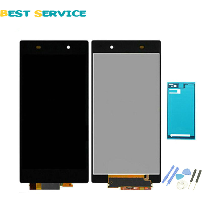 For Sony Xperia Z1 L39H C6902 C6903 LCD Screen Display With Touch Screen Digitizer Assembly + Sticker + Tools Fast Free Shipping 1 pcs l39h black lcd display touch screen digitizer assembly for sony xperia z1 l39h c6902 c6903 free shipping