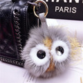 Real fur monster keychain charms karlito raccoon keychains Fluffy perfect personality backpack PomPom bag pendant