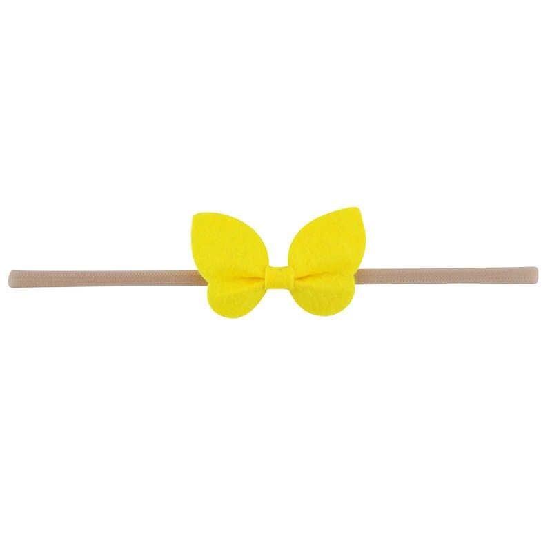 1 шт. бабочки банты для волос, ободок с эластичного нейлона резинки для волос для новорожденных модное платье для новорожденных девочек, детские аксессуары для волос