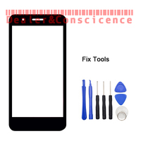 1PCS Genuine Original Black For LG K9 Front Glass Lens Lovain Touch Screen LCD Outer Panel