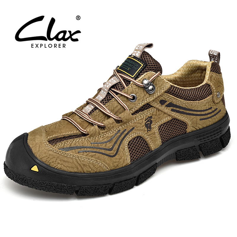 CLAX Mens Boots Genuine Leather 2019 Spring Autumn Mans Shoe Male Work Shoes Ankle Boot Walking Footwear Soft