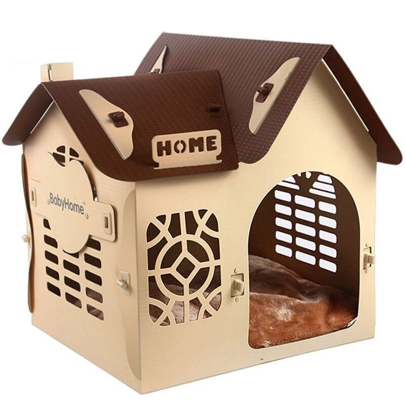 Material PP Extraíble casa de perro de la perrera casa del animal doméstico cama