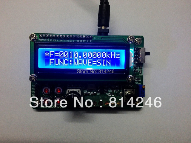 Free shipping,0.01- 2MHz DDS Function Signal Generator Module Wave