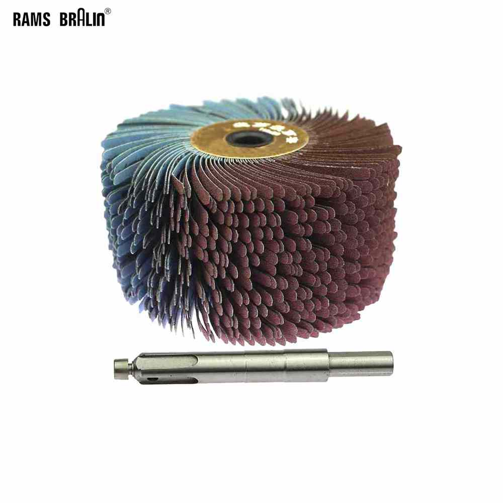 1 Piece Sanding Cloth Wire Polishing Brush Drill Woodworking Grinding Head Wheel