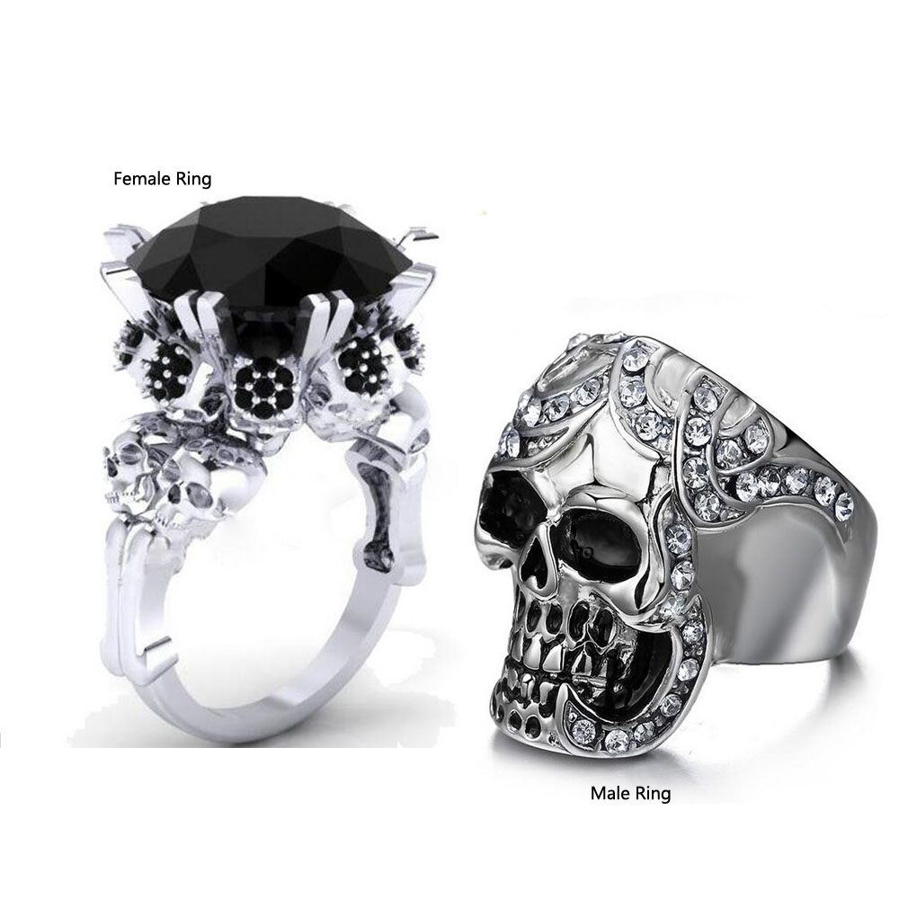 bling jewelry sterling silver princess cut cz wedding engagement ring set size 9 skull wedding ring sets Bling Jewelry Sterling Silver Princess Cut CZ Wedding Engagement Ring Set