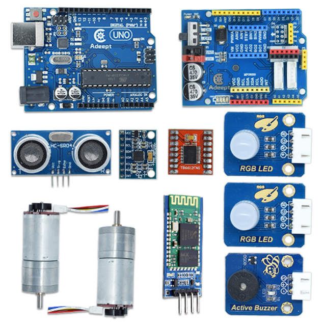 US $96 0 52% OFF Adeept 2 Wheel Self Balancing Upright Car Robot Kit for  Arduino UNO R3 with PDF Instruction Book Android APP Remote Control-in