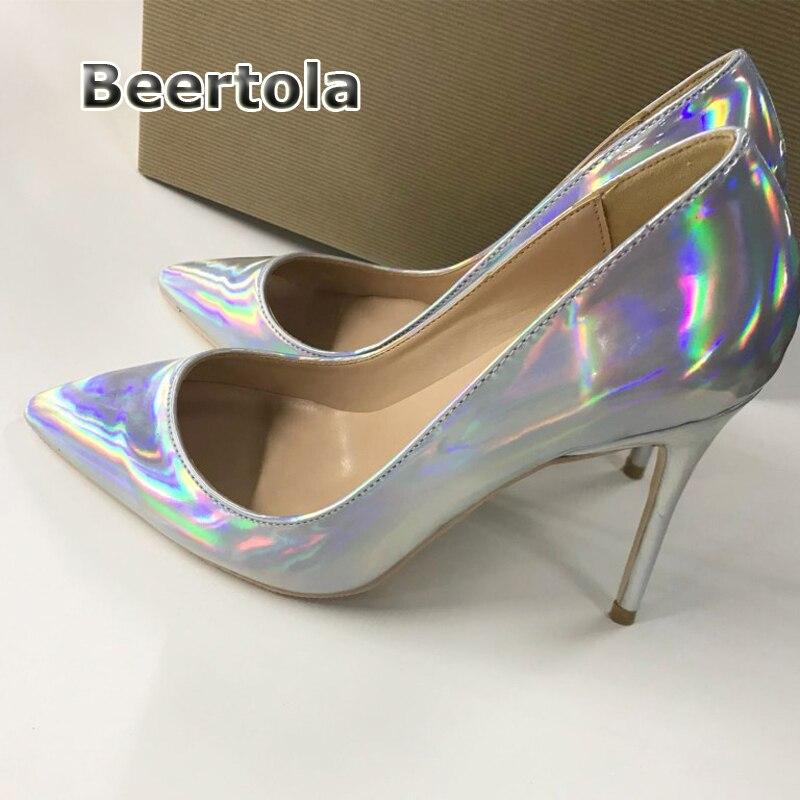 Talons Beertola Pointu Argent Taille 8cm 12cm Grande Haute Heels Femmes Sexy Peu 8 Bout Chaussures Cm 12 Pompes 10cm Heels Laser Club Heels 10 Profonde 4YqFzr8nYw
