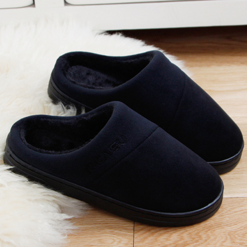 Warm colors ladies slippers PVC flats fashion adult outside plush winter home slippers women shoes shallow black slipper fashion womens shoes warm winter cotton shoes tennis feminino casual girl shoes comfortable ladies flats long plush women flats