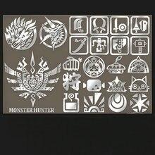 PowerAngel 23st / set Game Monster Hunter Metalldekal Klistermärken till Motorcykel Skateboard DIY Phone Laptop Sticker Rekvisita