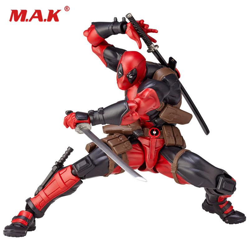 все цены на 16cm Red Deadpool Action Figures Model Justice League X-MAN  Action Figure Dolls Toys Collections онлайн