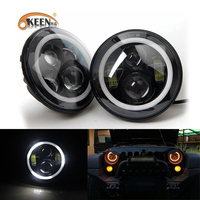 Okeen High Quality Waterproof 12V LED DRL For Jeep Wrangler JK 2007 2014 White Blue Amber
