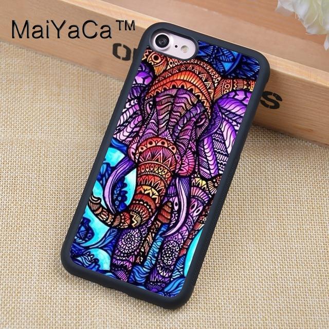 Perfect MaiYaCa Tribal Elephant Hippie Spiritual Phone Case For Apple  LZ15