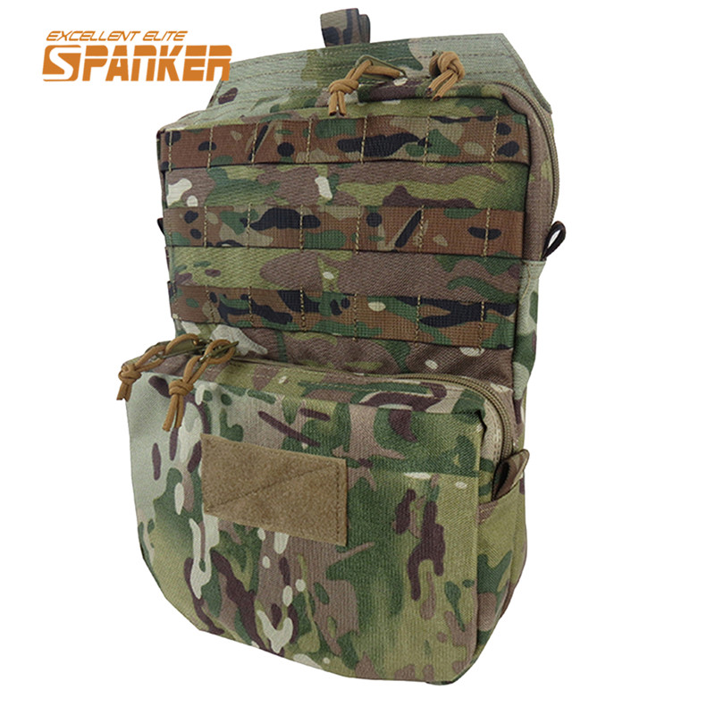 SPANKER Molle Hydration Pack Water Pack Water Bladder Bag Backpack Water Pouch Tactical Vest Accessory Bags Hunting Bag emersongear lbt2649b hydration carrier for 1961ar molle backpack military tactical bags hunting bag multicam tropic arid black