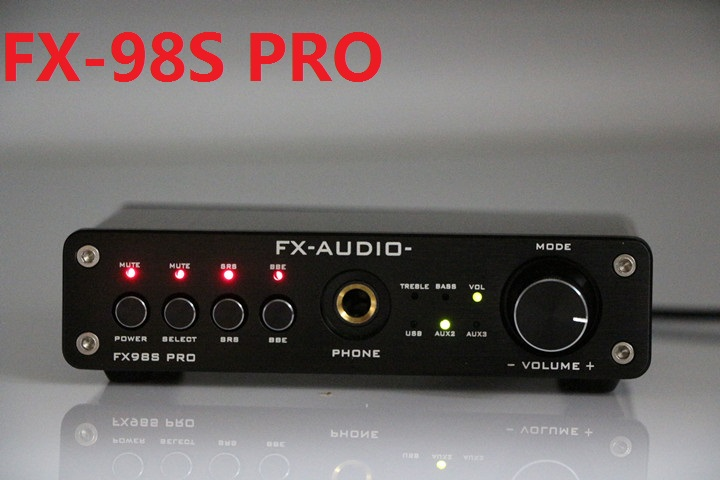2017 FX-Audio FX-98S PRO sound effect EQ processor upgraded version of the USB decoder DAC PCM2704 MAX9722+Headphone amplifier недорго, оригинальная цена