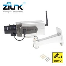 Fake Dummy Camera Outdoor Indoor Waterproof Mini Security Camera Flashing Red LED Simulation Bullet CCTV Camera Wholesale
