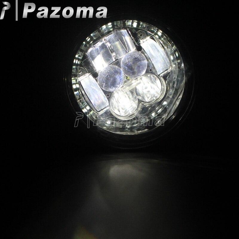 Motorbike Black Aluminum High Low Beam LED Headlights Head Lamp Daytime Running Light for Vespa Primavera