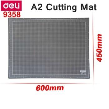 Deli 9358 A2 Paper Cutting Mat  PVC self-healing cutting mat plate 450x600x3mm