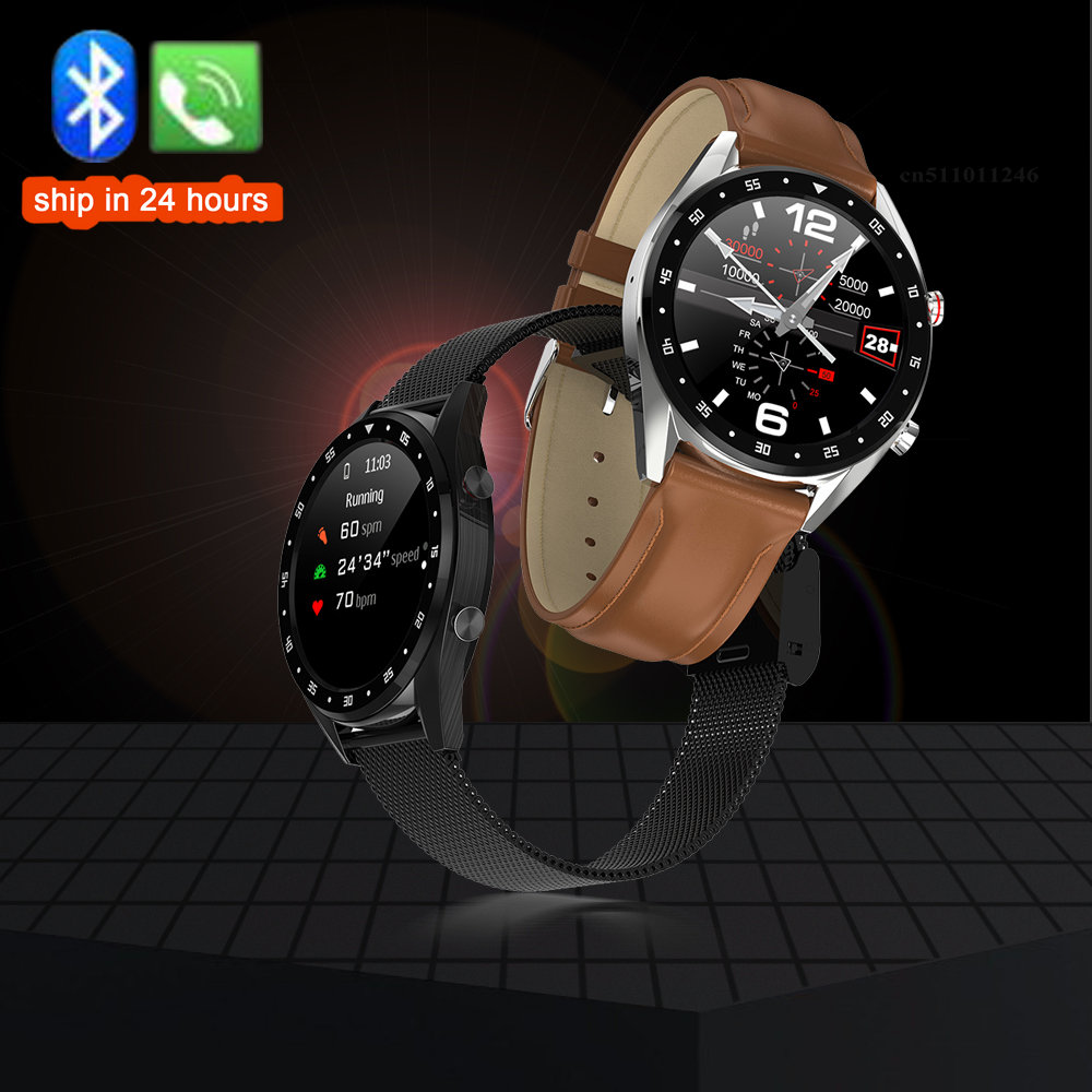 L7 Bluetooth Call Smart Watch Sport Fitness Tracker ECG PPG HRV Heart Rate Blood Pressure Monitor