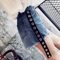 Sommer Neue Muster Koreanische Quasten Schwarz Hohe Taille Cowboy Shorts Frau Einfachen Ring Band Breite Bein Enge Hosen