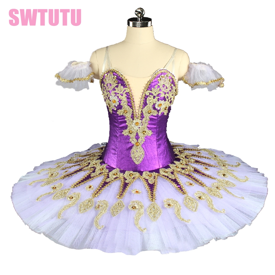 new arrival purple princess florina ballerina tutu girls performance tutu professional platter ballet tutu for sale BT9134F