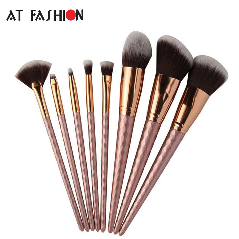 Unicorn Diamond Makeup brush Set for Face Makeup Brushes Pincel Maquiagem 8pcs Cosmetic Powder Blush Foundation Make Up Brushes pro 15pcs tz makeup brushes set powder foundation blush eyeshadow eyebrow face brush pincel maquiagem cosmetics kits with bag