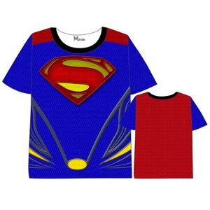 Аниме Железный человек Супермен Человек-паук Капитан Логан Америка футболка мужская и женская с коротким рукавом летнее платье Marvel Comics DC Футболка
