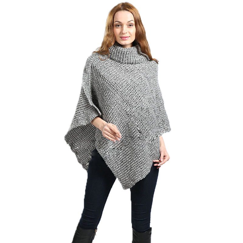 new women sweater poncho cardigan pull femme pullover. Black Bedroom Furniture Sets. Home Design Ideas