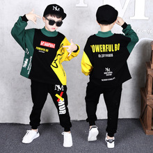 Boys Suit Spring and Autumn 2019 Fashion New Boy Sports Suit Children Two-piece Suit 4 5 6 7 8 9 10 11 12 13 Y Boy Sports Suit цены онлайн