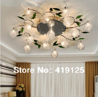 Cheapest Fashion Crystal Ceiling Light Modern For Living Room Bedroom Wholesale Retail 10lights D68 H15cm