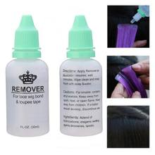 1 Bottle 30ML Remover Adhesives Remover Tape Hair Extension Tool Double-Sided Glue Remover Lace Frontal Wig Remover(China)
