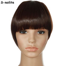 S-noilite Women Bangs Short Front Neat Clip in on Bang Fringe Hair Extensions Straight Synthetic Hairpiece Any Colors(China)