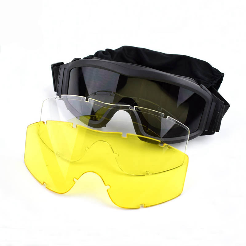 Durable Desert Military Airsoft Gear Tactical Goggles Shooting Glasses With 3 Lens Motorcycle Windproof Wargame Goggles Cheapest Price From Our Site Ciondoli