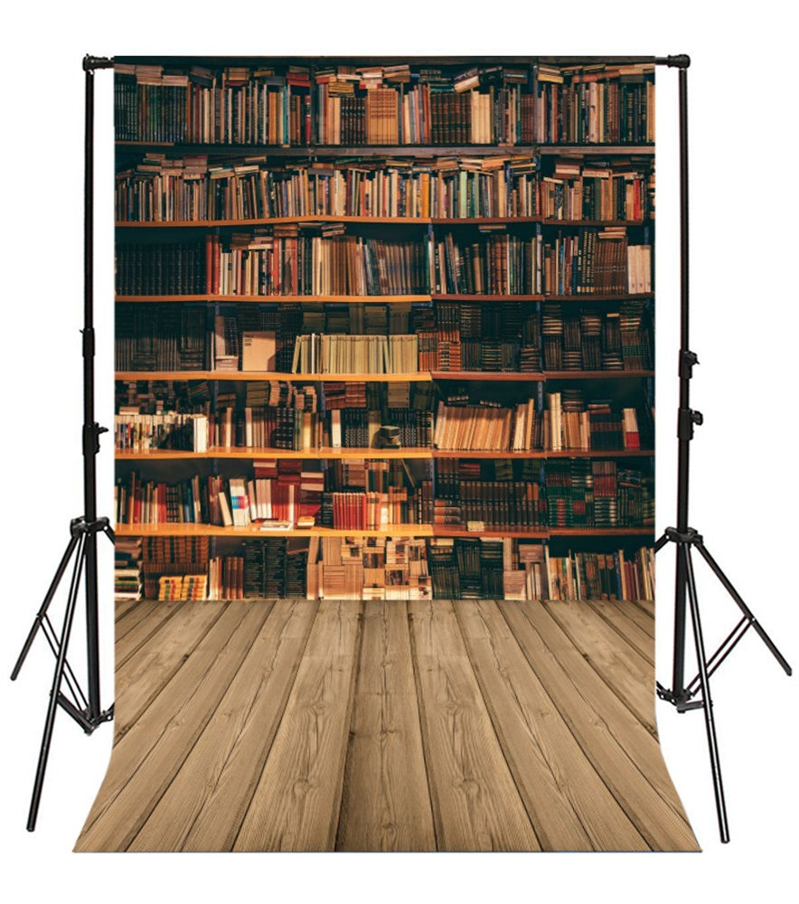 Laeacco Bookshelf Wooden Board Plank Child Scenic Photographic Backgrounds Customized Photography Backdrops For Photo Studio in Background from Consumer Electronics