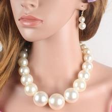3Pcs Fashion Women Suit  Colar Simple Imitation Pearl Short Clavicle Chain Multilayer Handmade Retro Bijoux Necklace