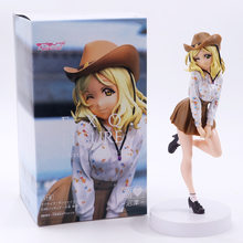 Anime amor ao vivo sol exq a3 aqours mari ohara pvc figuras de ação collectible modelo crianças brinquedos boneca 23cm