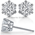 LASAMERO Moissanites Diamond 14K Gold Earrings Total 0.8cttw Lab Grown Moissanites Classic 6 Prong Diamond Stud Earring