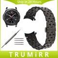 22mm de acero inoxidable correa correa para samsung gear curved end s3 classic frontera venda de reloj butterfly hebilla de cinturón de pulsera
