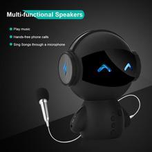 Милый робот караоке Bluetooth динамик HIFI Смарт супер бас звуковая коробка портативный беспроводной стерео динамик s с внешним аккумулятором караоке