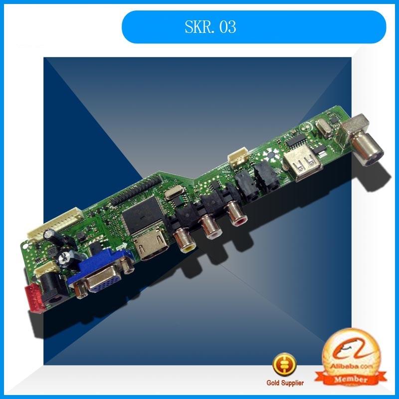 New SKR.03 LCD TV Driver Board Motherboard Instead Of V59.031 V56.03 NTSC AvailablB